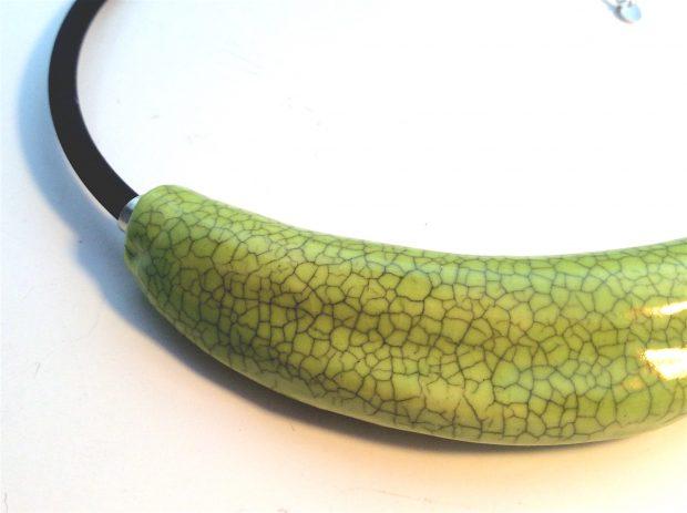 Green Crackle Barrel close up