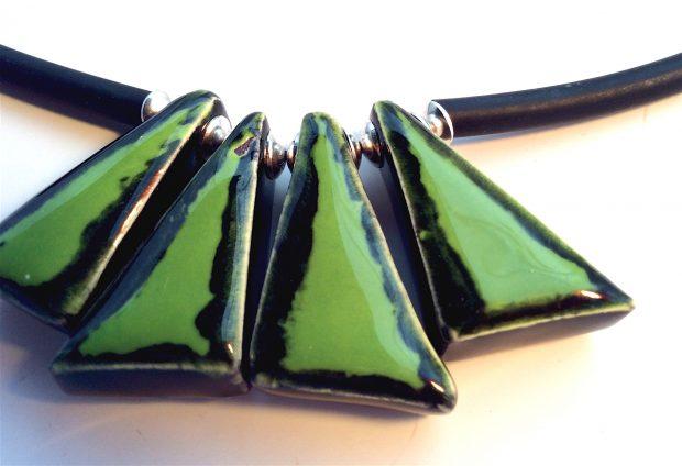 Green Triangular close up